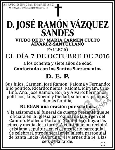 José Ramón Vázquez Sandes